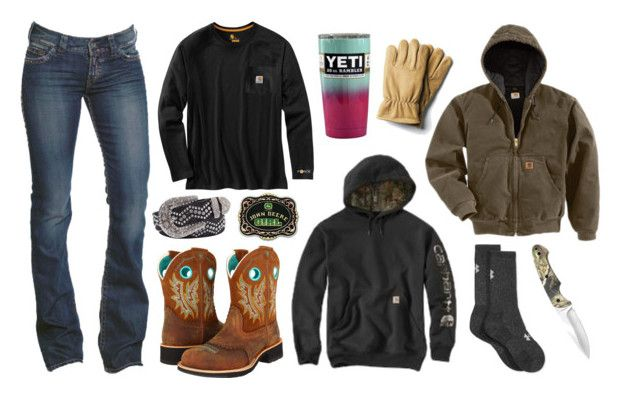 """I Love Carhartt, Im Hoping To Get A Green Jacket Here Soon :D"" by im-a-jeans-and-boots-kinda-girl on Polyvore featuring 1921, Ariat, Carhartt, Under Armour, BKE and John Deere"