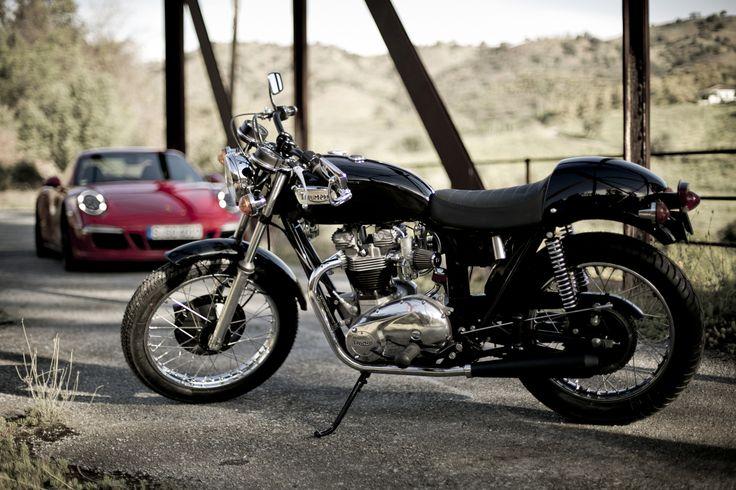 Customización moto clásica, Triumph Boneville T120 de 1974, Café Racer,   http://www.mjhperformancebikes.com/es/transformacion-de-moto-triumph-bonneville-t120-1974/