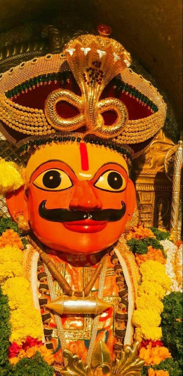 Khandoba Ganesha Art Indian Gods Tanjore Painting