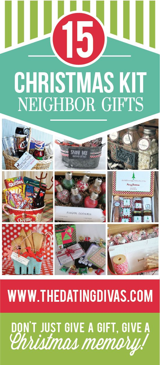 Darling, unique Christmas neighbor gifts.  Instead of giving the usual plate of cookies- give them a fun activity to do together as a family. TheDatingDivas.com