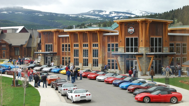 Corvette Rally. Choppers, Big Sky Town Center. Big Sky, Montana