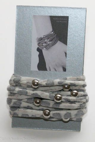 Grey Animal Print Beaded Bracelet