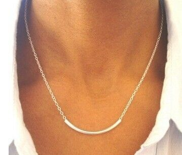 New fashion costume jewelry copper alloy Tube collar necklace for women