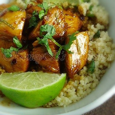 Nom. sweet chili lime chicken with cilantro couscous. DELICIOUS!!! Score: 11 (the scale is based on 1-10)