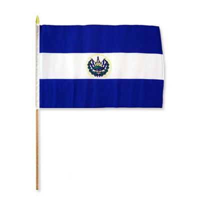 FlagsImporter El Salvador Traditional Flag and Flagpole Set