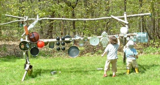 Banging WallIdeas, Kids Outdoor Music Wall, Music Instruments, Music Gardens, Musical Instruments, Outdoor Plays, Kids Fun, Backyards, Bangs Wall