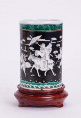 Antique Chinese Porcelain Brush Pot