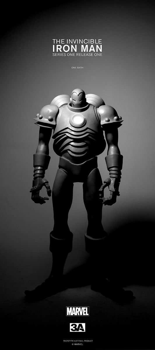 ThreeA Marvel Series 1 Release 1 Invincible Iron Man by Ashley Wood. Funky take. I dig it. And want it.