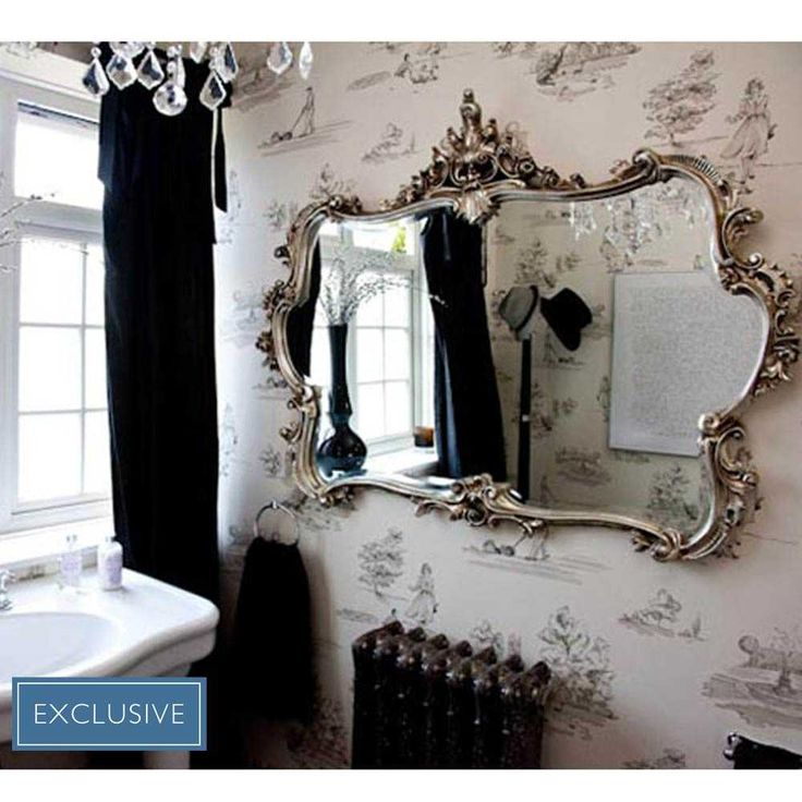 Miss Lala's Silver Looking Glass | Luxury Mirror - French Bedroom Mirrors