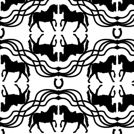horses fabric by arrpdesign on Spoonflower - custom fabric