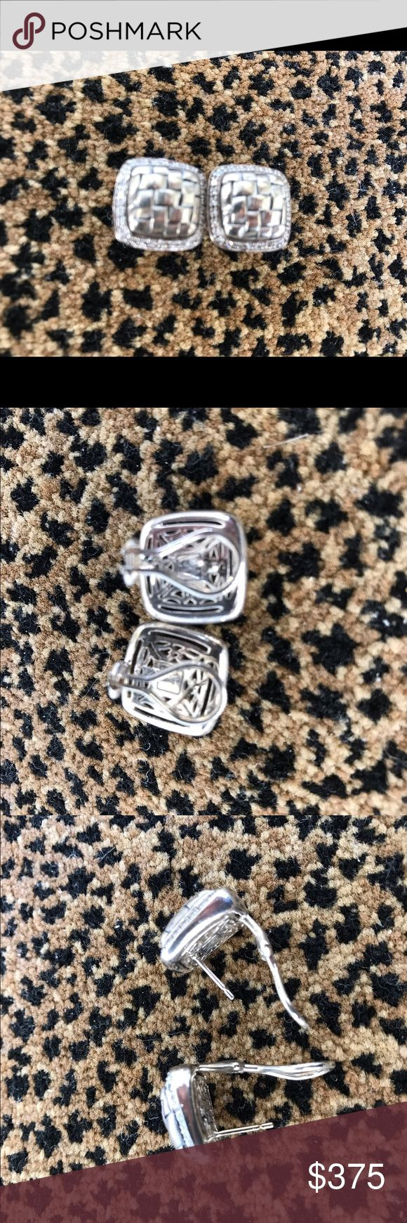 Scott Kay diamond earrings Scott Kay diamond and sterling silver earrings. Pace diamond total weight .56. Post back. Excellent preowned condition worn once in designer pouch scott kay Jewelry Earrings