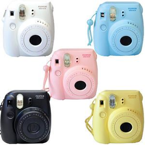 Buy Fuji instax mini 8 Fujifilm instant Film Camera Pink Black Blue White Yellow