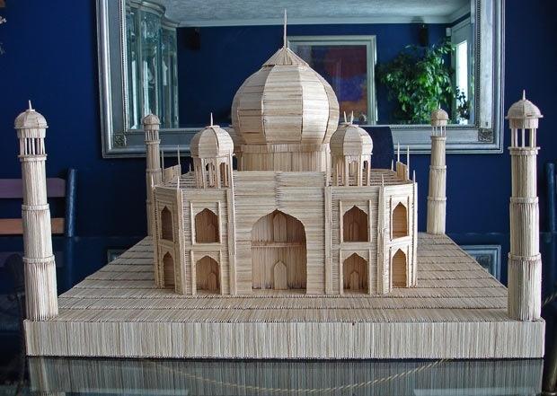 Taj Mahal Toothpick Sculpture by Stan Munro  epicr.com