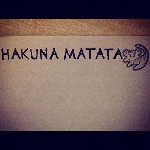 hakuna matata foot tattoo | Hakuna Matata Lion Tattoo Pictures to Pin on Pinterest