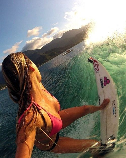 Surfing women... Introducing coming'n shore & ' Welcome them to Fat Tony's cheeseburgers