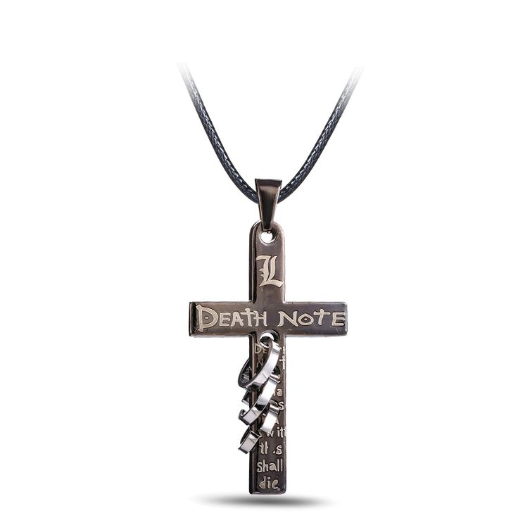 Death Note Black Gold Metal Necklace Cross Logo Pendant //Price: $8.99 & FREE Shipping //     #anime #otaku #manga #kawaii #animegirl #animelover