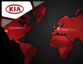 Multi-touch installation for the booth of Kia Motors  at the international motorshow IAA