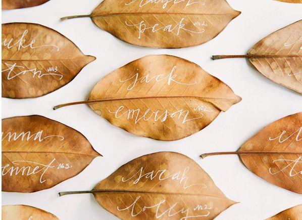 Fall Escort Card inspiration Orlando Wedding Planner, Swanky I Do's