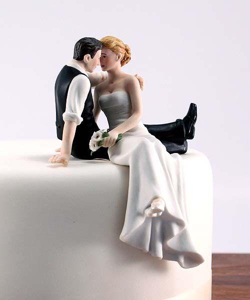Cake topper clássico! Tem topo de bolo mais romântico?
