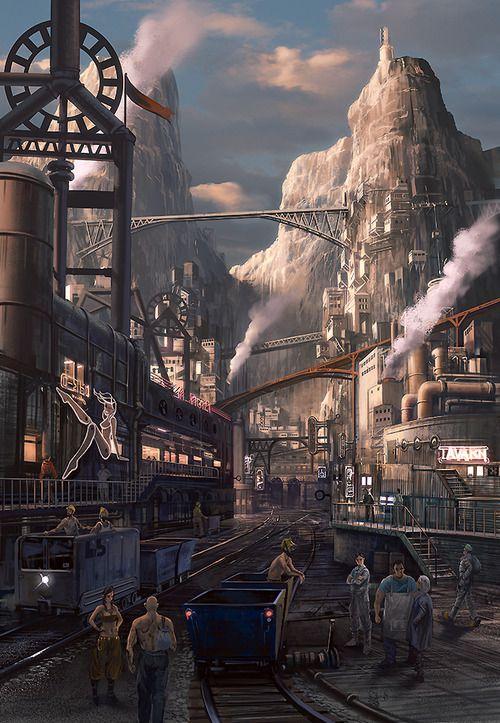 Steampunk Artwork - Nabo   #Cityscape