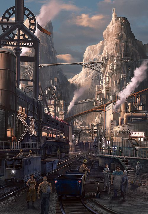 Steampunk Artwork  - Nabo   #Cityscape