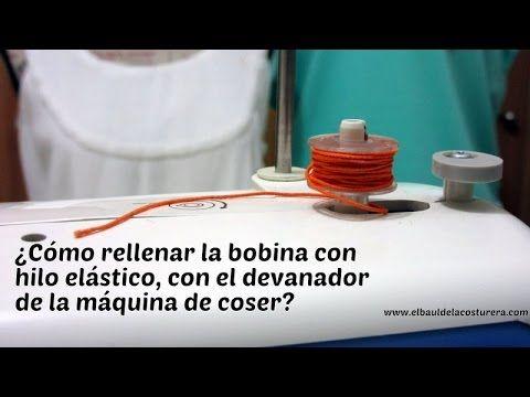 Devanar la bobina (carretel o canilla) con hilo elástico para hacer costuras fruncidas utilizando el devanador de la máquina de coser. Es posible con cualqui...