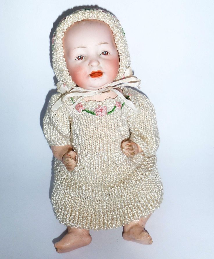 Cute Hertel Schwab Character Doll c1920 from theluckyblackcat on Ruby Lane