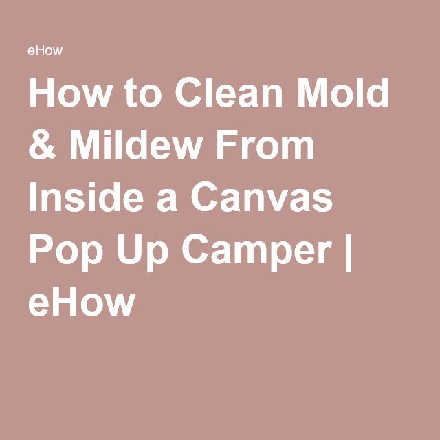 how to clean camper canvas