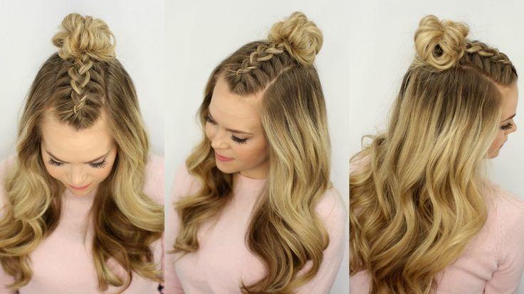 Mohawk Braid Top Knot | Half Up Hairstyle | Missy Sue - YouTube