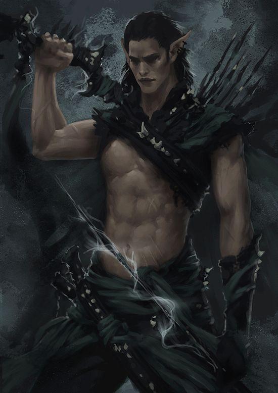 Dark Elf Warrior - Concept 3