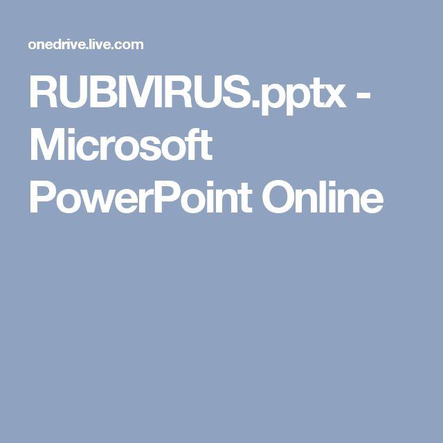 RUBIVIRUS.pptx - Microsoft PowerPoint Online