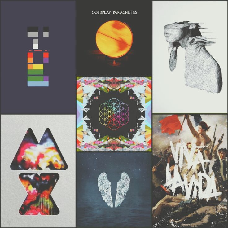 Coldplay's albums. Music for the soul. #coldplay #albums #music #collage #20years #cfnedits2018