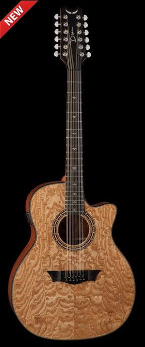 Dean Exotica 12 String Quilted Ash Natural Acoustic Electric Guitar