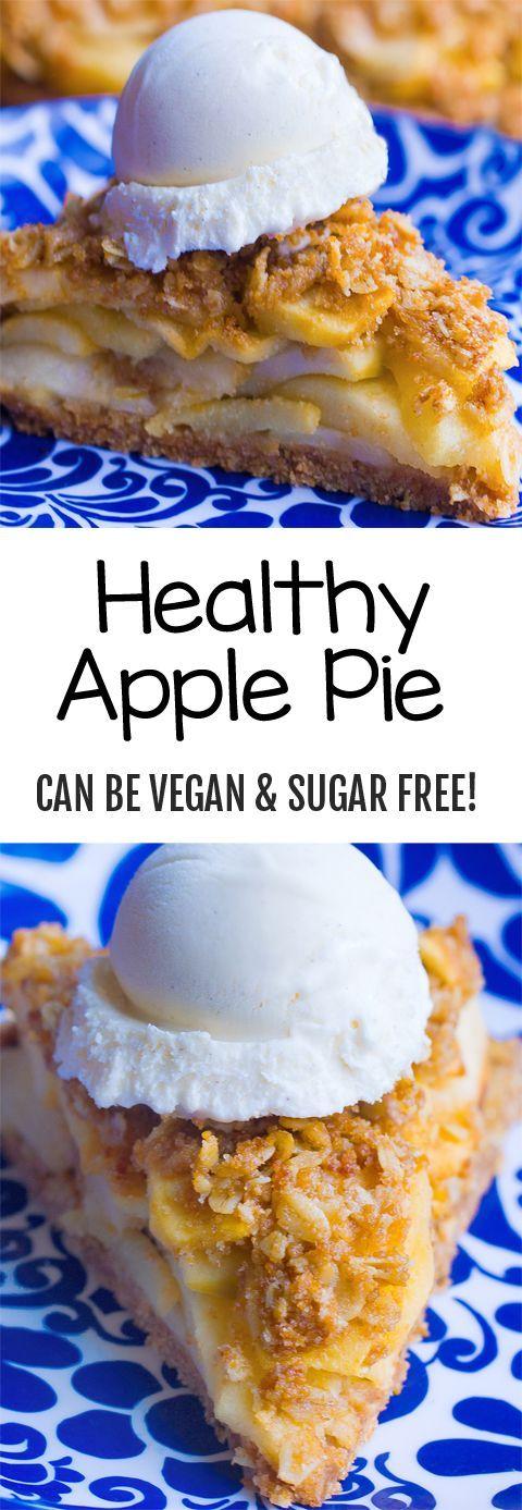 Gesunder Apfelkuchen (kann vegan und zuckerfrei sein) – mit Schokolade …   – Torten Rezepte