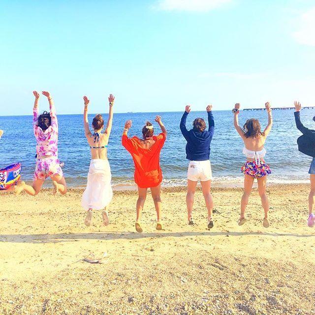 #大阪#梅田#神戸#須磨#夏#海#砂浜#ビーチ#カメラ女子#水着#ジャンプ#カメラ#BBQ#肉#肉食系女子#女子会#最高#summer#beach#sea