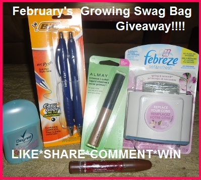 Canada Freebies Eh!! : February's Growing Swag Bag Giveaway is LIVE! Enter to WIN