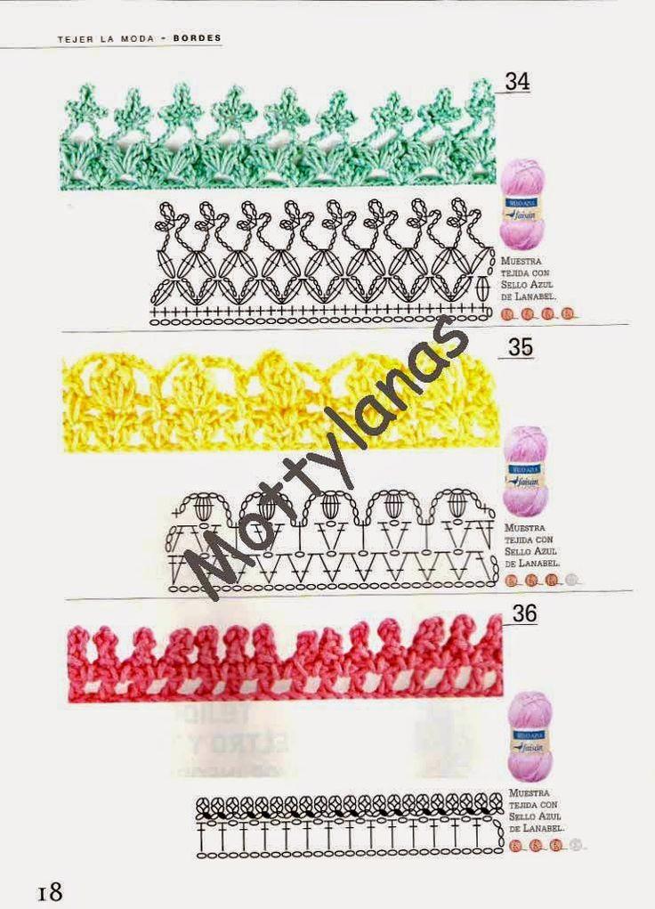 Tejer la moda - Bordes en chochet - Revistas de crochet y tejidos gratis