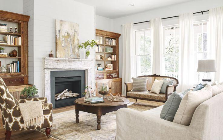 Farmhouse living room via Country Living