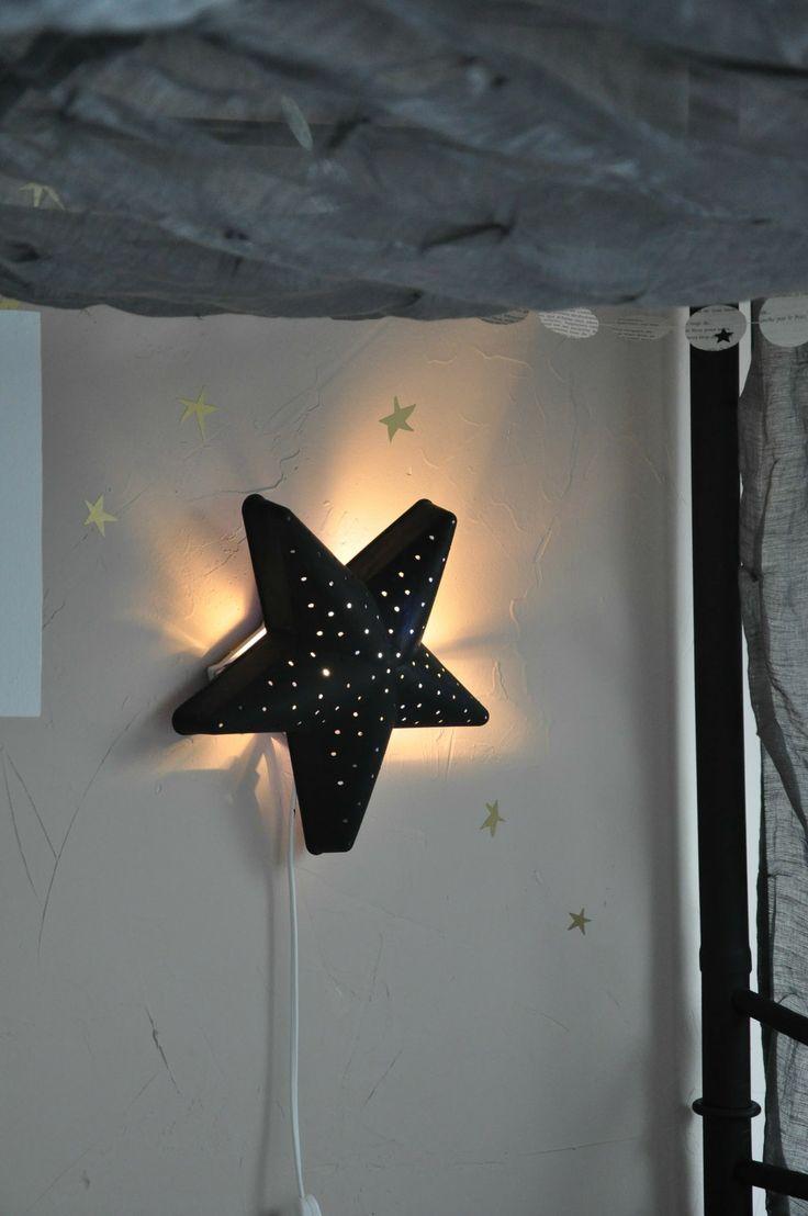 DIY idea: paint Ikea kids lamp star black | pageblanche11