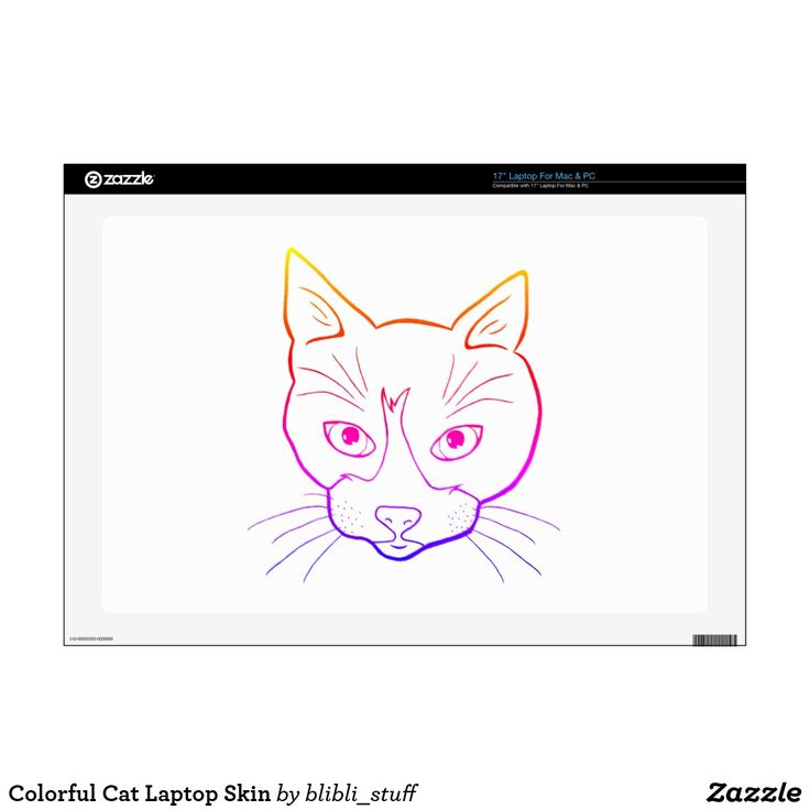 Colorful Cat Laptop Skin #catlovers #cats #zazzle