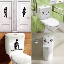 Mur Sticker Autocollant Décor Mural Mirror Fenêtre Toilette WC Abattant Chambre