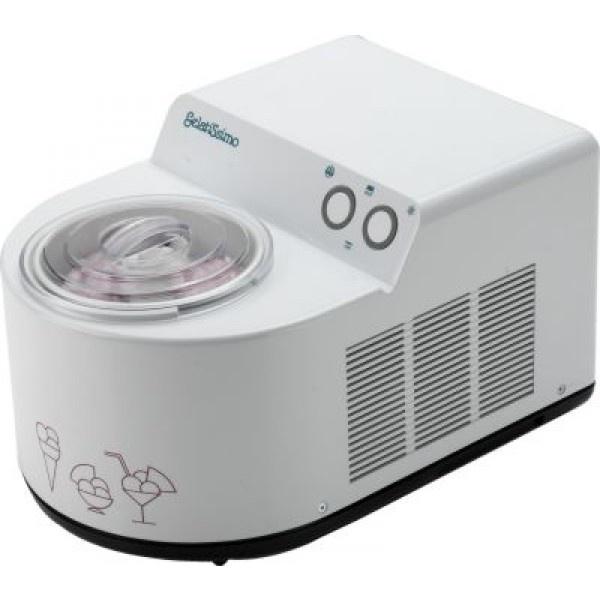De Gelato Gelatissimo: Zelfvriezende IJsmachine van Nemox met een inhoud van 1,7 liter.De roestvrijstalen ijskom is makkelijk schoon te maken. De geanodiseerd aluminium binnenkom zorgt voor de hoogste koudegeleiding.Met aparte aan/uit-schakelaar voor vriezen en voor de roerspaan.Compressor: 4,09 ccEigen vriezerVentilatieVerwijderbare roerspaanMaximale inhoud (ingrediënten) 1100gBereidingstijd: 30-40 minInclusief maatlepel, receptenboek en instructieboek