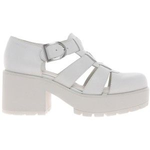 Vagabond Dioon White Leather Heeled Shoes