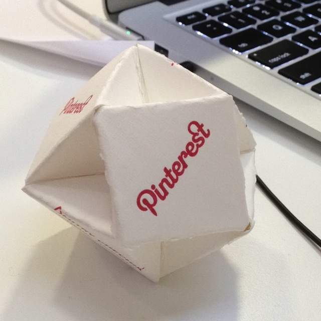 Pinterest business card origami.