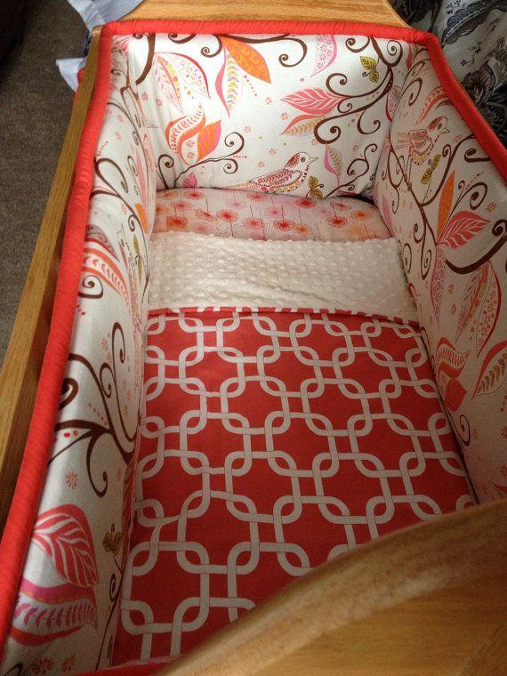 Custom Cradle bedding you choose fabric by SweetDreamsBedding, $170.00