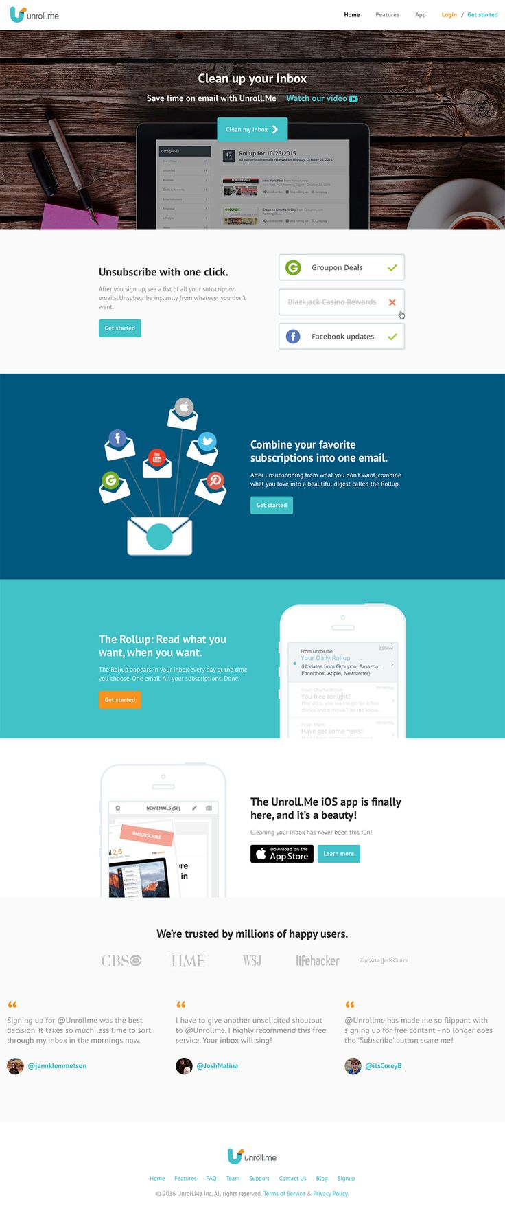 Unroll - Clean up your inbox
