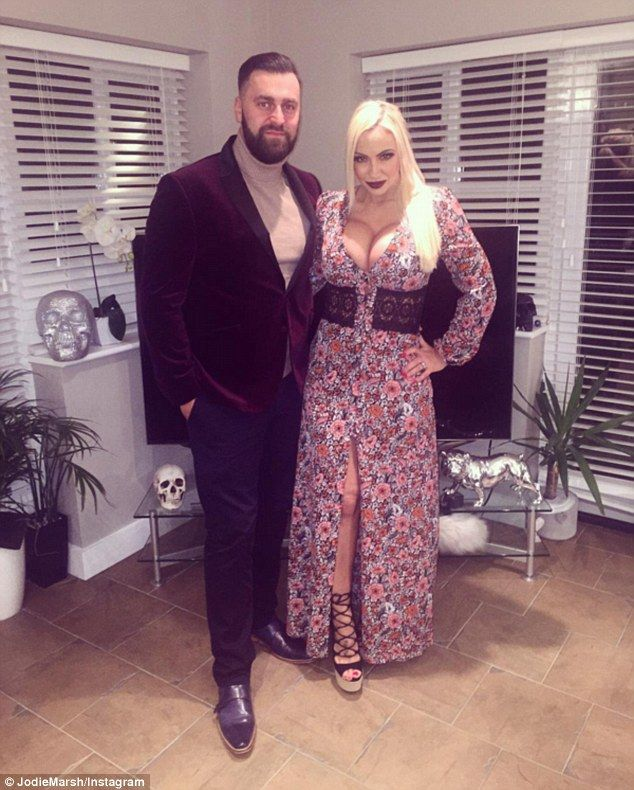 'This now makes me feel sick - I bought him these trousers, jumper and shoes. My parents bought him this dinner jacket': Jodie Marsh has lashed out at her estranged husband, James Placido, on social media again