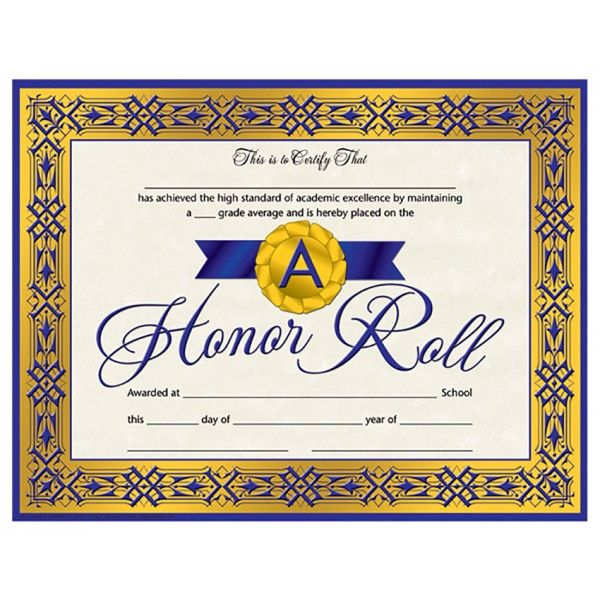 This is a photo of Légend Free Printable Honor Roll Certificates