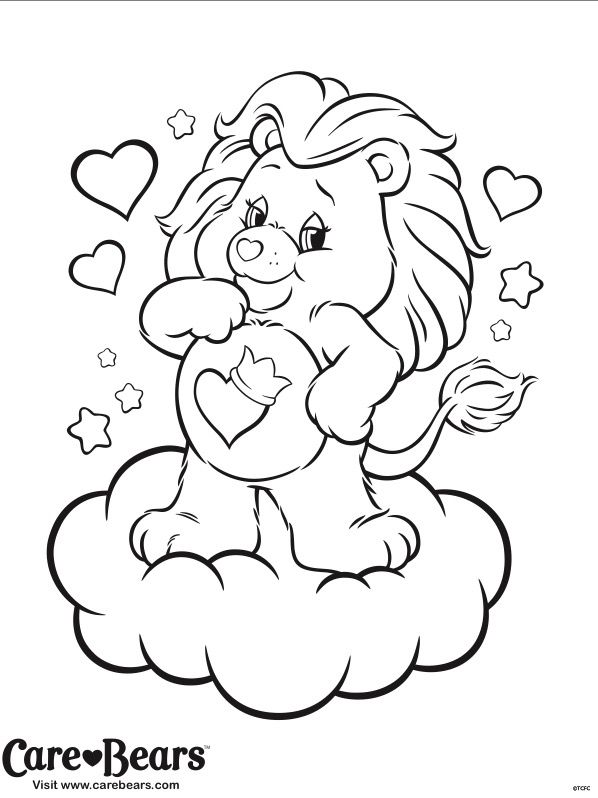 care bears cousins coloring pages - photo#8