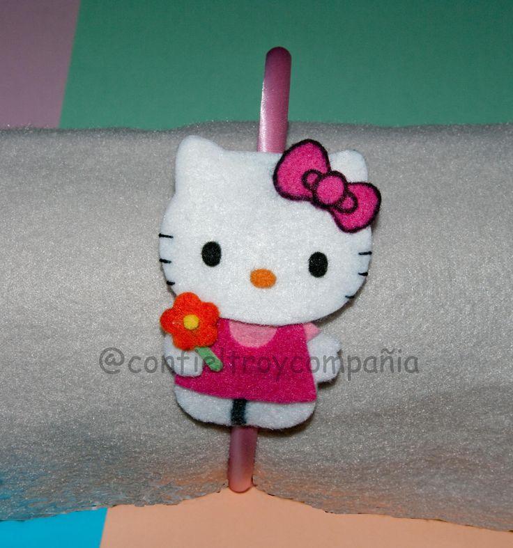 Diadema Hello Kitty Flor